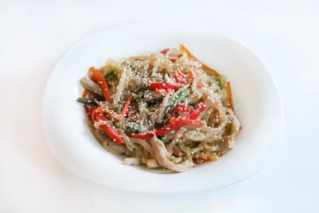 Харусаме + овощи + сливочный соус + свинина