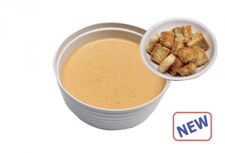 Крем суп лососевый